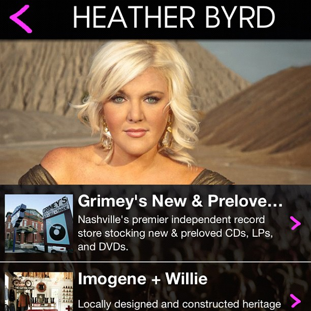 JULY 2012 - HEATHER IS CHOSEN AS AN INSIDER BY  W MAGAZINE'S FRONT ROW APP