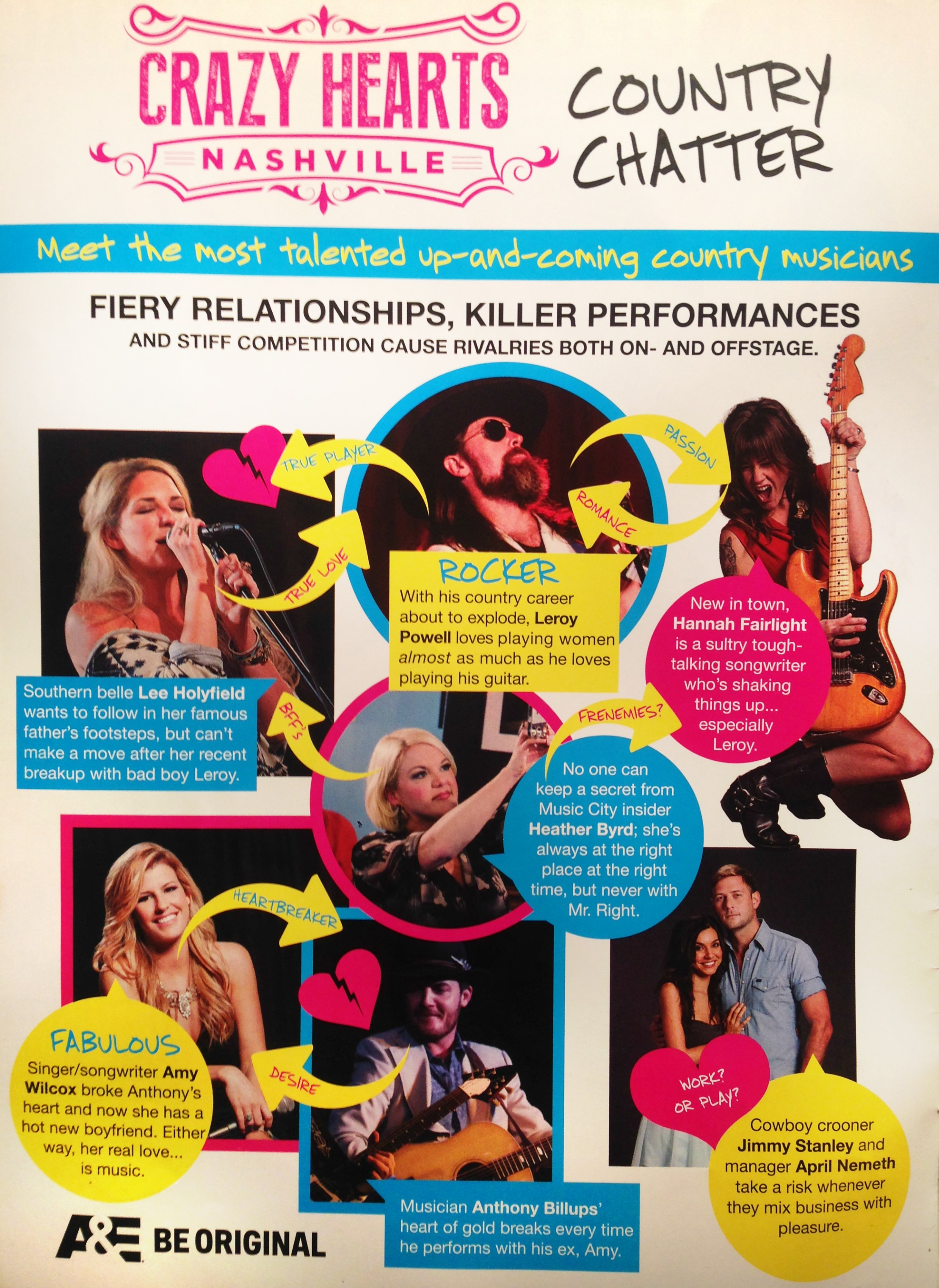 JANUARY 2014:  OK! MAGAZINE  FEATURES THE CAST OF CRAZY HEARTS: NASHVILLE IN THE JANUARY ISSUE