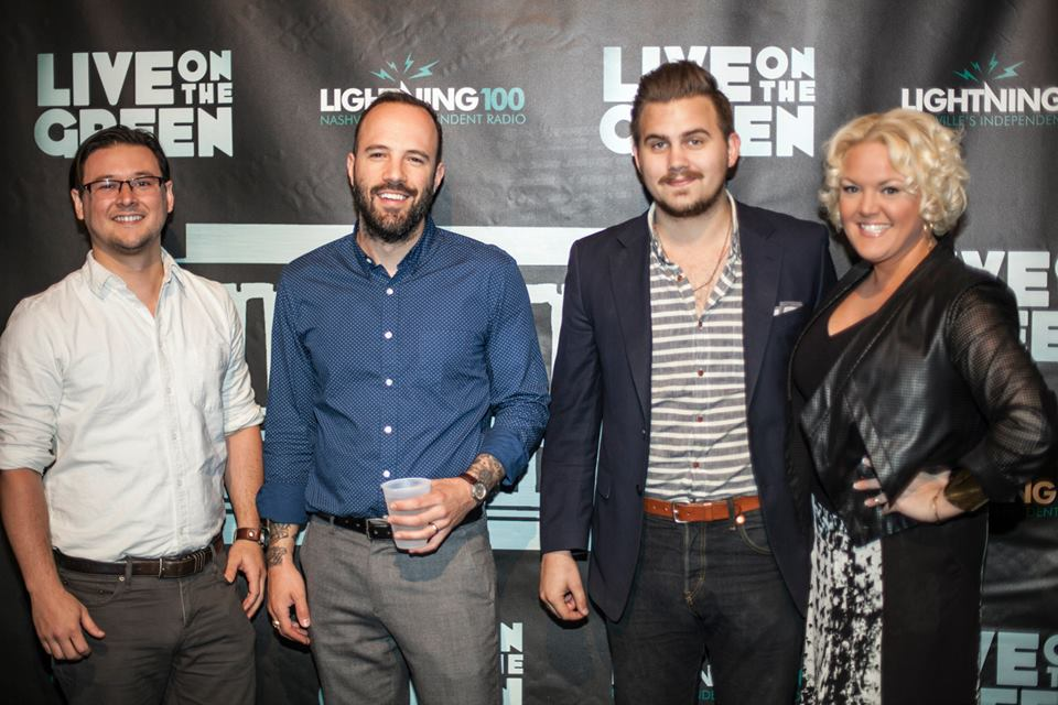 MARCH 2014 - HEATHER JOINS FORCES WITH MOUNTAIN CREATIVE TO SUPPORT THE MARKETING AND PR EFFORTS FOR THE LIVE ON THE GREEN MUSIC FESTIVAL 2014. PICTURED L-R: LOGAN BUERLAIN, JACOB JONES, TOM MELCHIOR AND HEATHER BYRD.