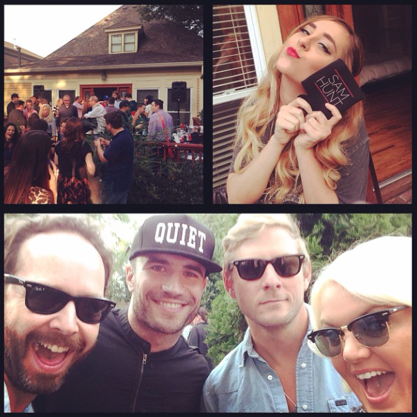 SEPTEMBER 2014 - HEATHER COVERED SAM HUNT'S ALBUM RELEASE PARTY FOR MONTEVALLO, FOR US WEEKLY