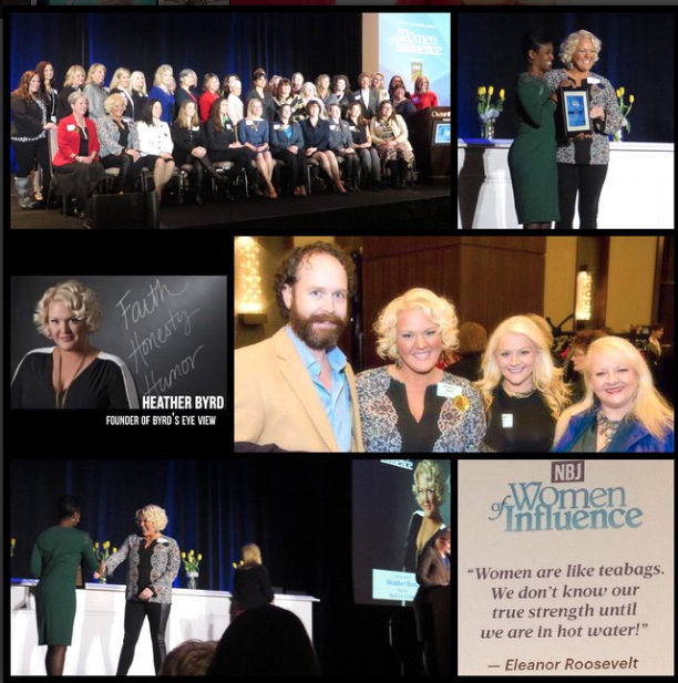 FEBRUARY 2015 - HEATHER WAS RECOGNIZED BY THE NASHVILLE BUSINESS JOURNAL AS A 2015 WOMAN OF INFLUENCE DURING A LUNCHEON AT THE OMNI HOTEL WITH MORE THAN 500 ATTENDEES.