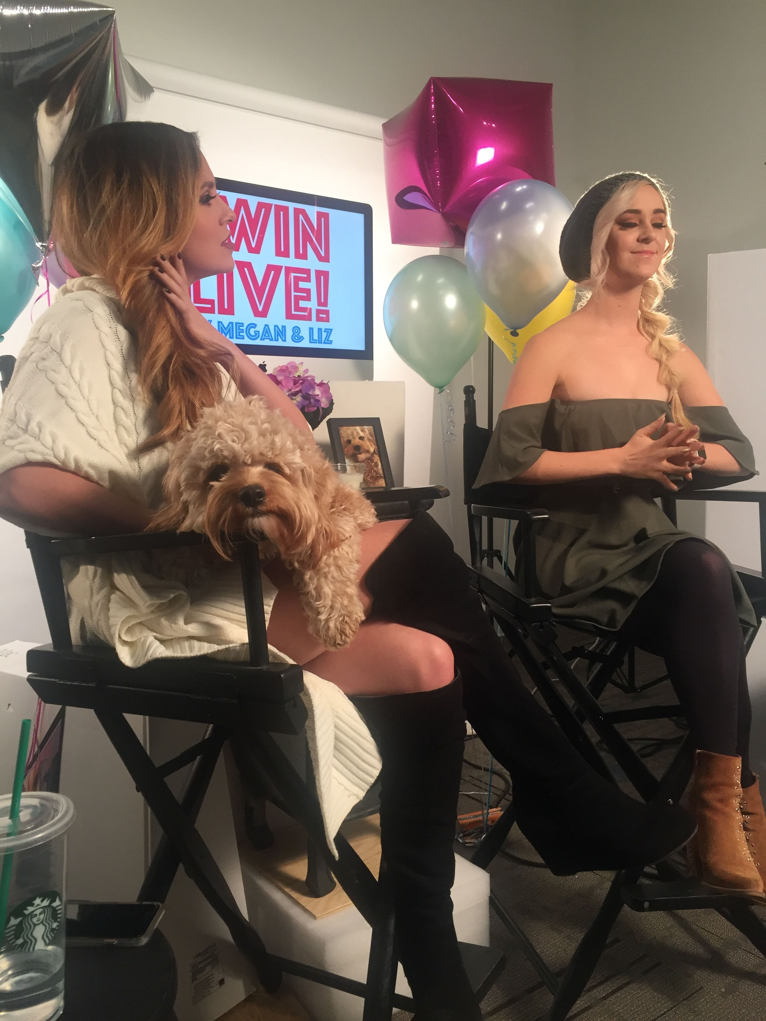 FALL 2016 - PRODUCING 'TWIN LIVE' - A FACEBOOK LIVE SHOW FEATURING MEGAN & LIZ FOR MY COUNTRY NATION