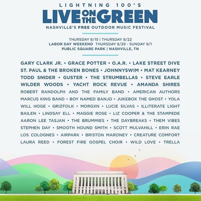 Cheering on all my pals @liveonthegreen for this killer 2019 lineup! #lotg2019 Who are you excited to see?
