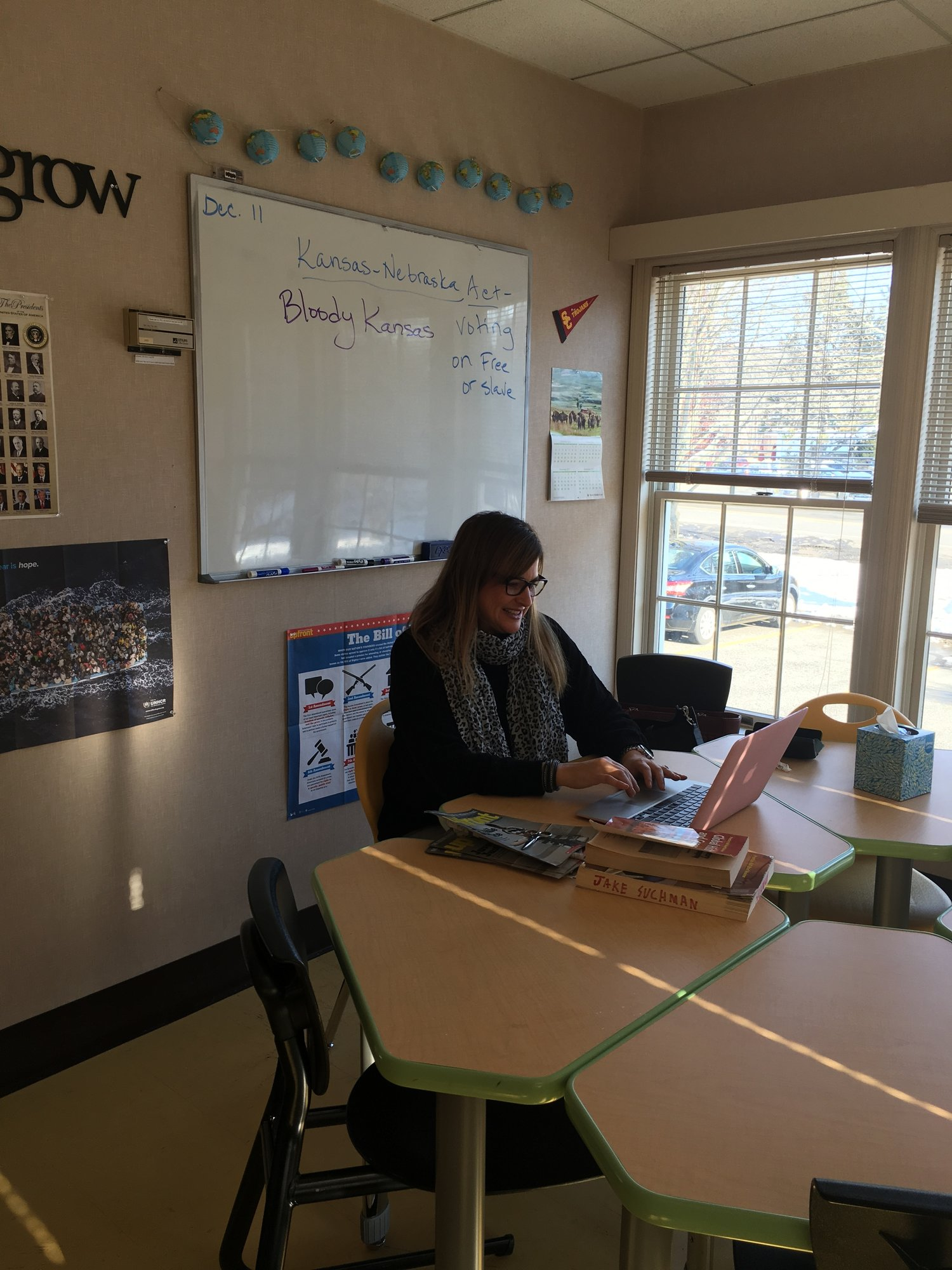 Julie Suchman, History teacher. Photo by Ilene B. Miller