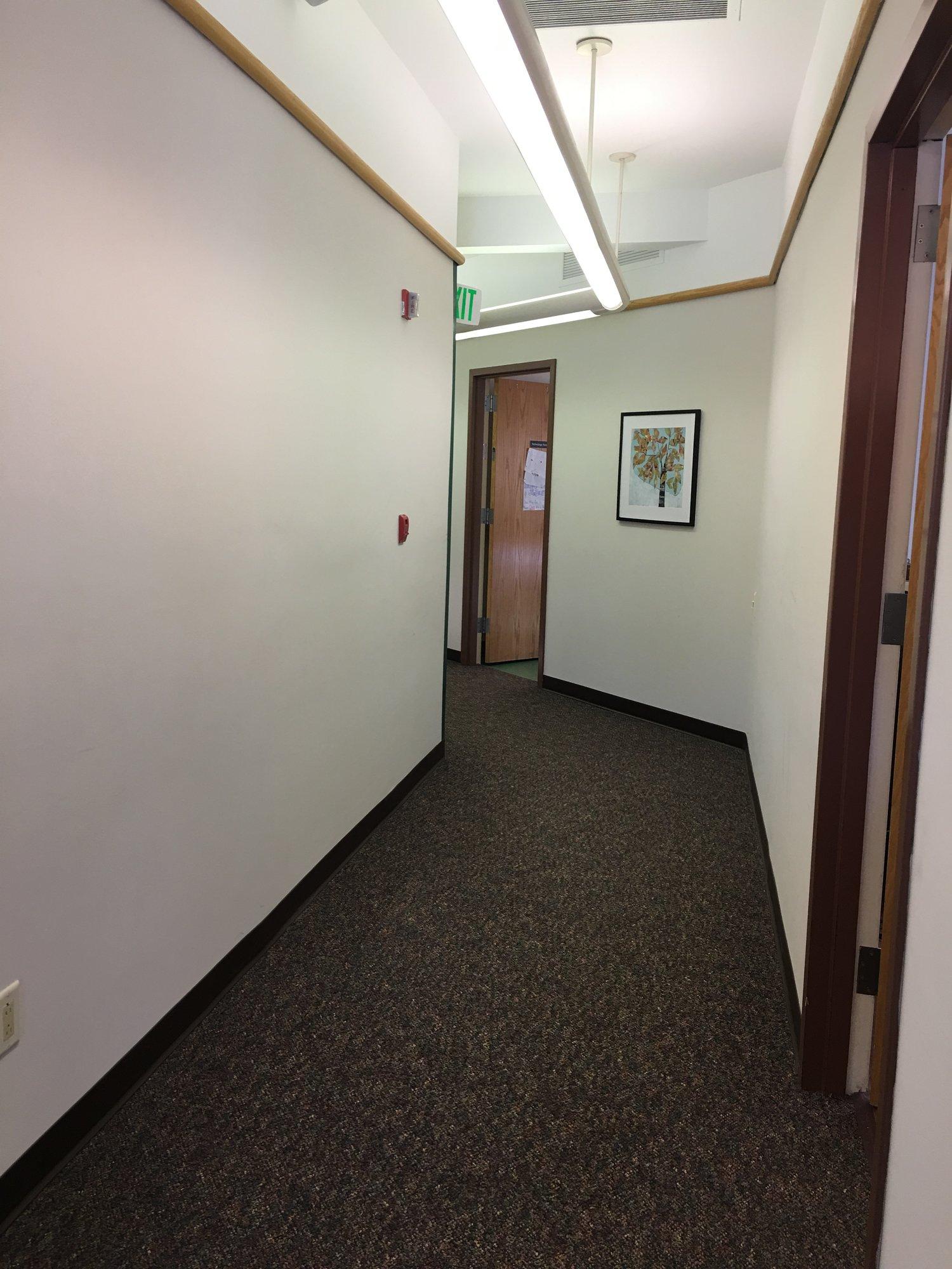 A quiet hallway. Photo by Ilene B. Miller