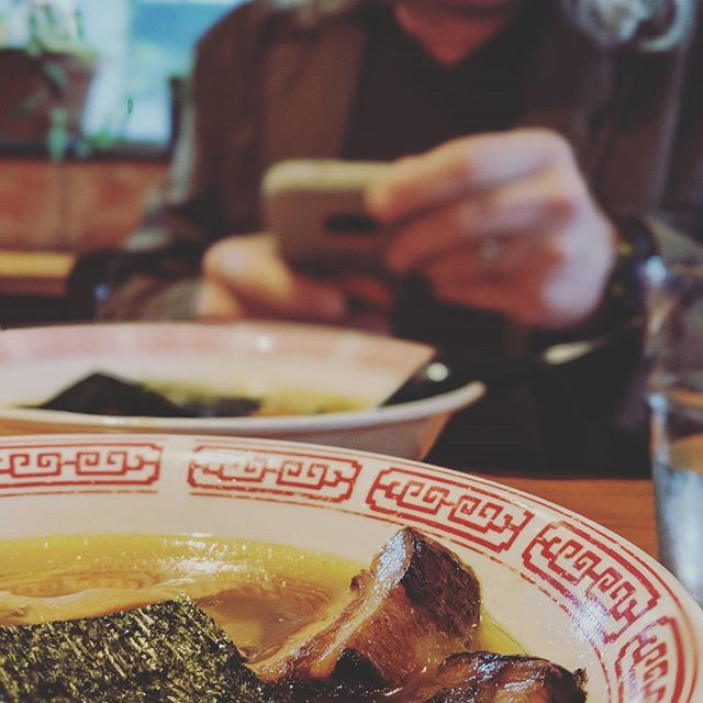 Ramen date with the Dad. #pdxeats #ramen #yum
