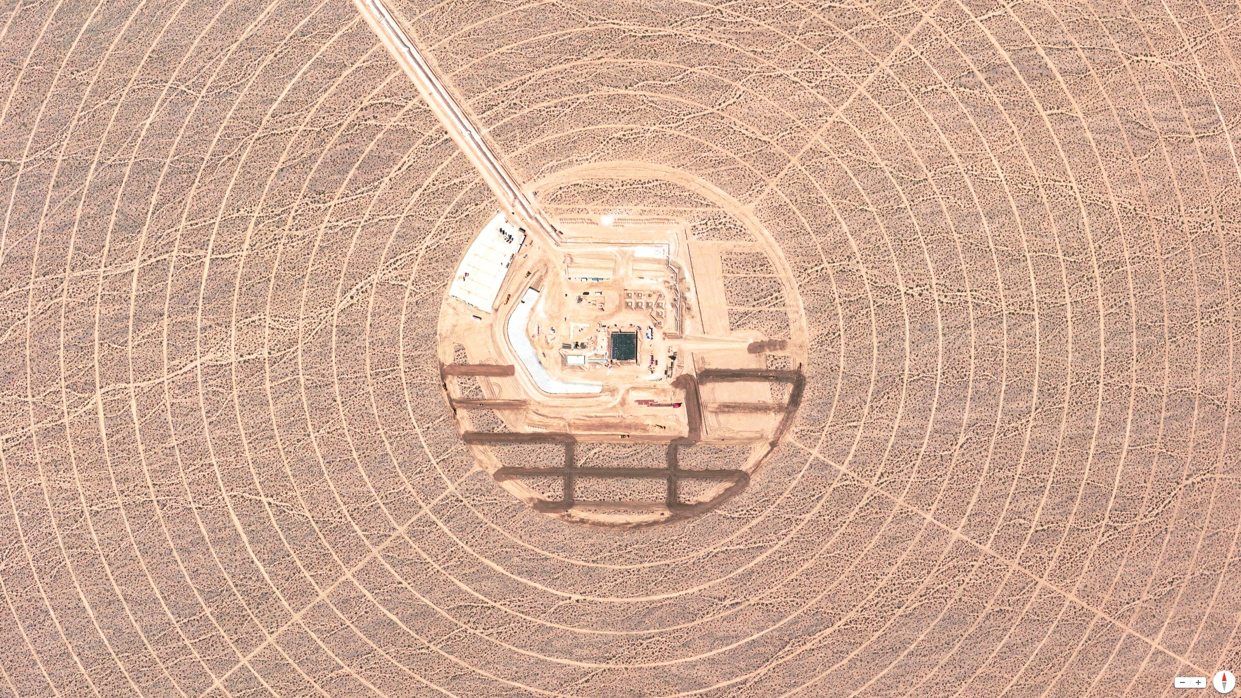 3/27/2014    Construction of Ivanpah Solar Power Facility   Mojave Desert, California, USA   35.57°N 115.47°W