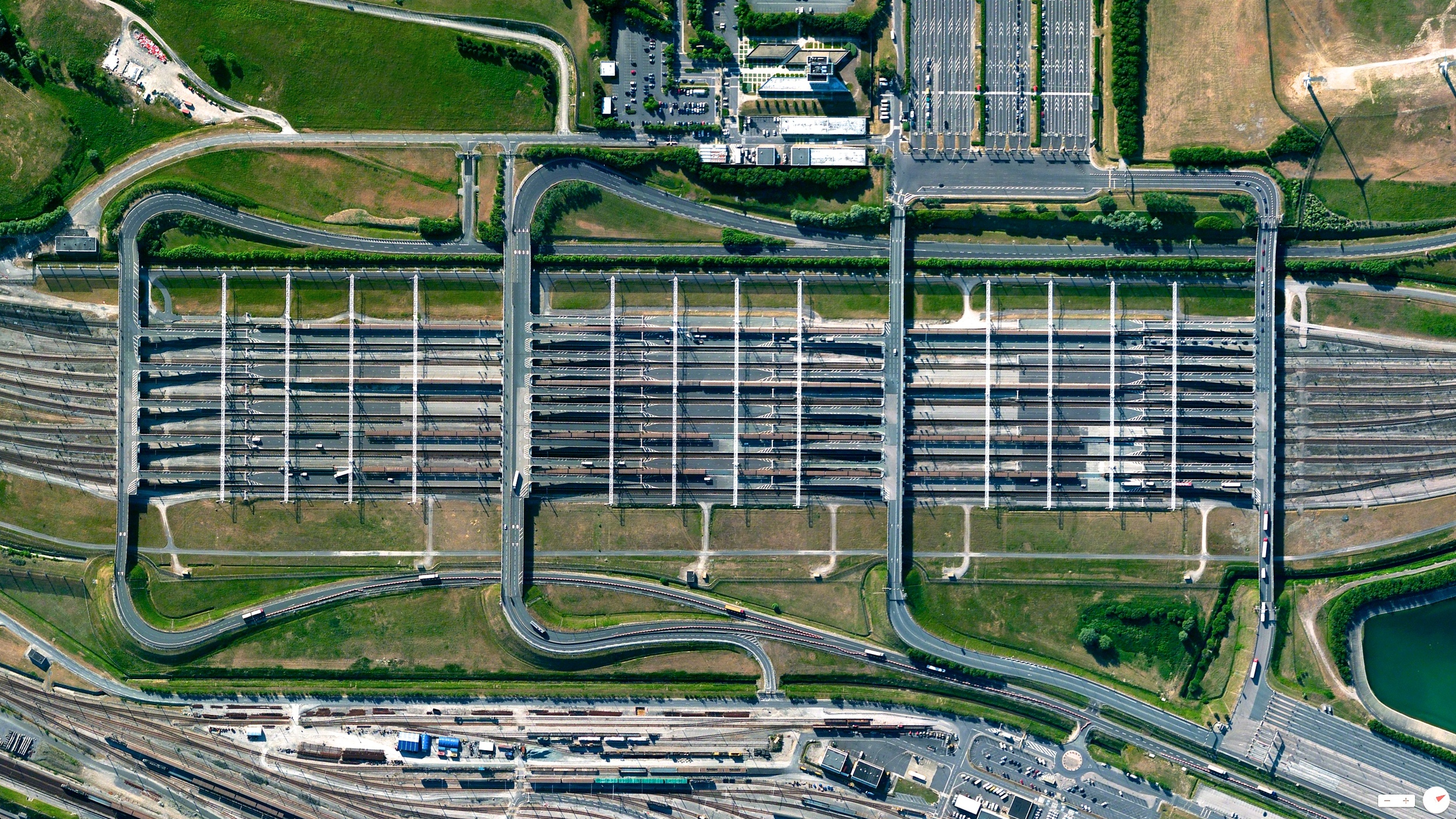 6/10/2014    Channel Tunnel Entrance (French side)   Coquelles, France   50°55′22″N1°46′50.16″E