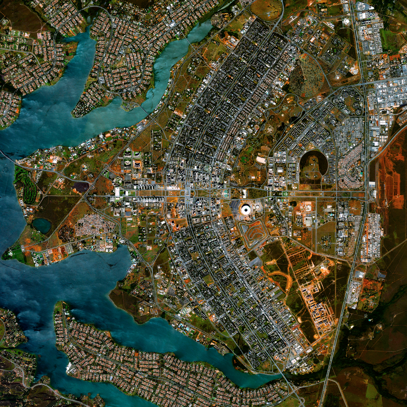 5/1/2015   Brasilia Urban Plan   Brasilia, Brazil  15°47′38″S 47°52′58″W    Today we've added seven new pieces to our  Printshop , including this Overview of the urban plan of Brasilia. The city was founded on April 21, 1960 in order to move the capital from Rio de Janeiro to a more central location within Brazil. The design - resembling an airplane from above - was developed by Lúcio Costa and prominently features the modernist buildings of the celebrated architect Oscar Niemeyer at its center. To see what else we've added to the Printshop, click the link above.