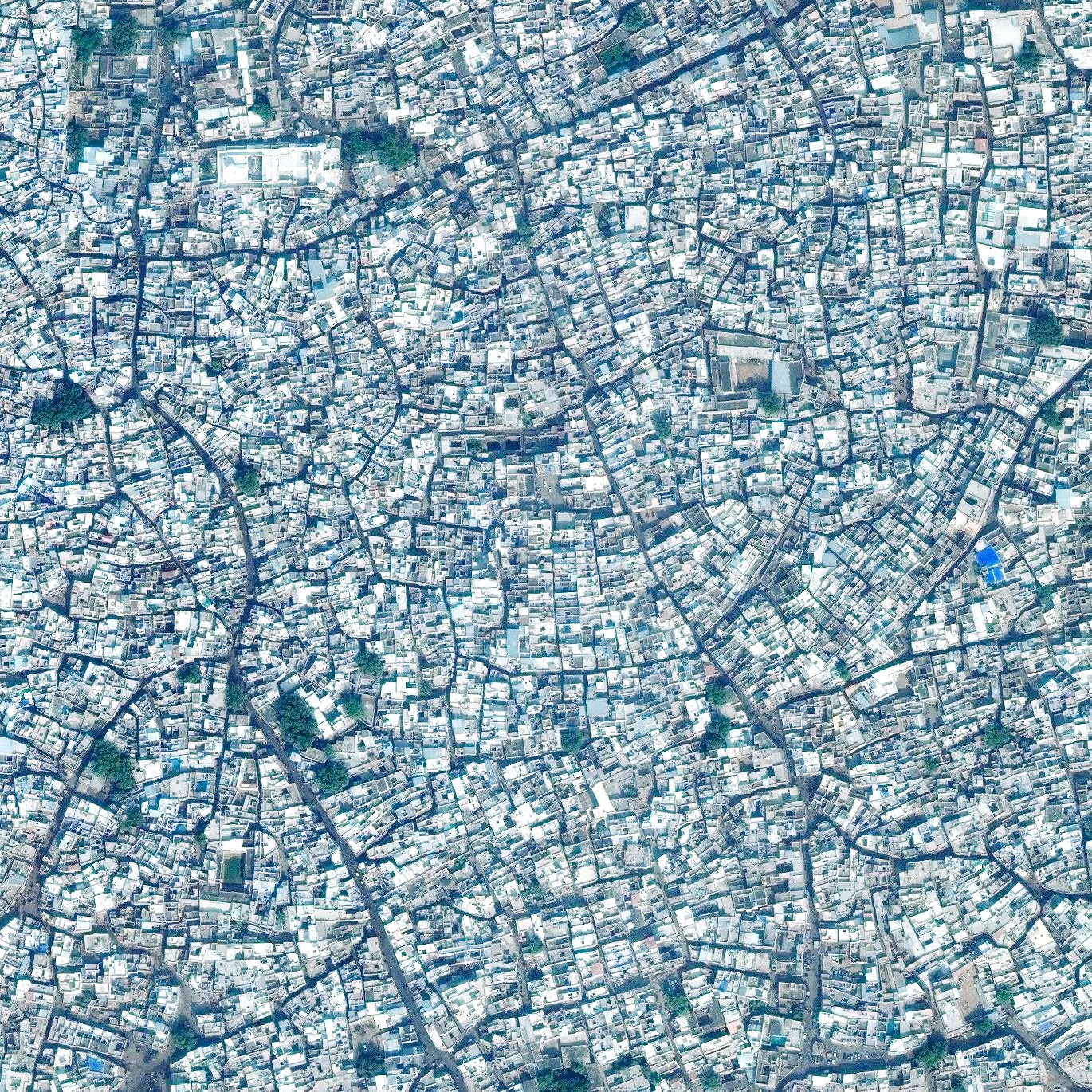 """8/7/2015   Jodhpur   Jodhpur, India  26.29784°N, 73.01842°E    Jodhpur, India is home to more than one million residents, making it the second largest city in the state of Rajasthan. Jodhpur is often referred to as the """"Blue City"""" due to the vivid, painted houses that can be seen throughout its urban area."""