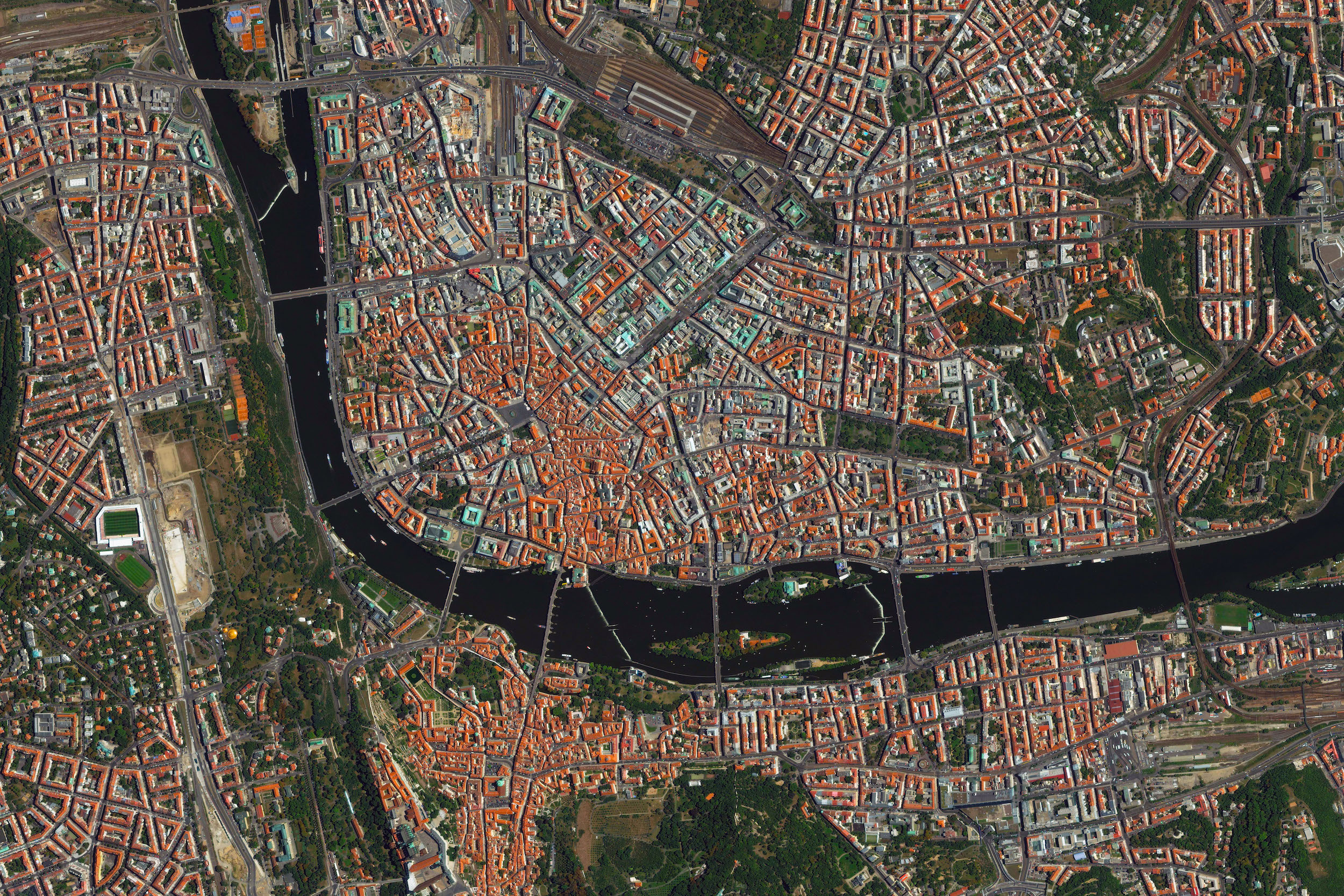 """9/9/2015   Prague   Prague, Czech Republic  50°5′N 14°25′E    Prague is the capital and largest city in the Czech Republic. Situated on the Vltava River in the center of the Bohemian Basin, """"Praha"""" is home to 1.24 million people."""
