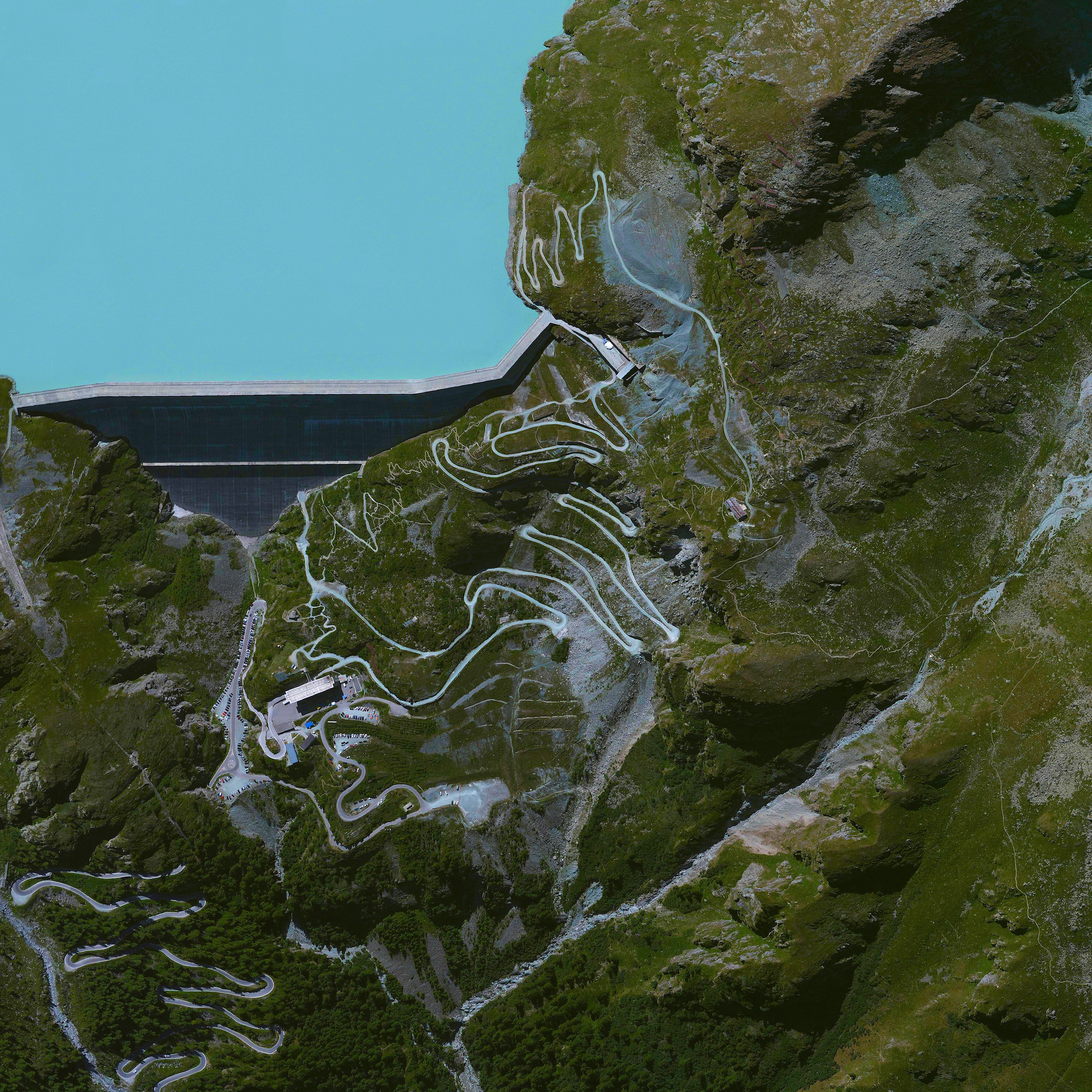 1/6/2016   Grande Dixence Dam   Hérémence, Switzerland  46°04′50″N 07°24′14″E    The Grande Dixence Dam in the canton of Valais in Switzerland is the tallest gravity dam in the world with a height of 935 feet (285 m). A gravity dam resists the horizontal thrust of the contained water, in this case the Dixence River, entirely by its own weight. The Grand Dixence took 14 years to construct, contains approximately six million cubic meters of concrete, and generates power for more than 400,000 Swiss homes.
