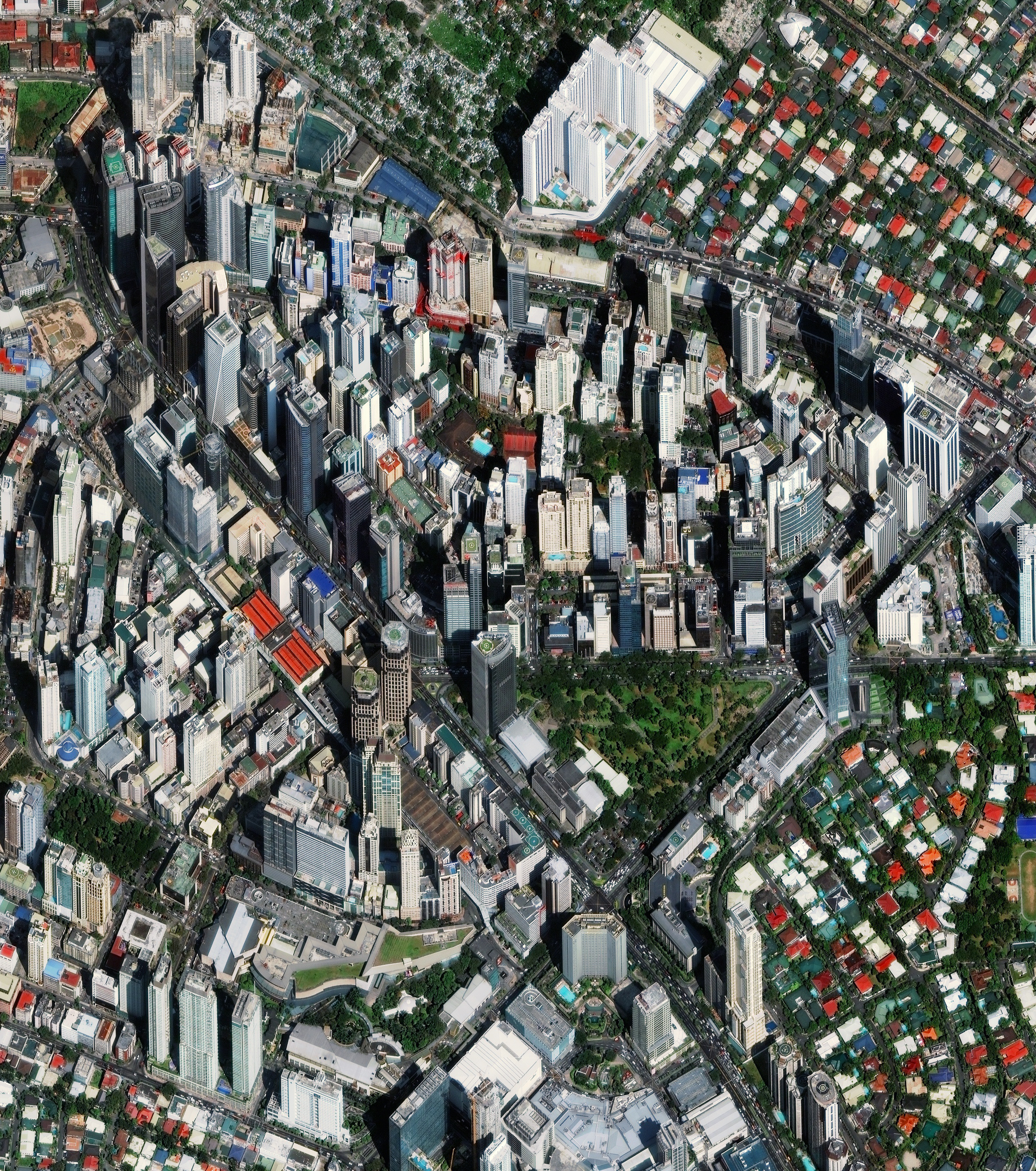 2/4/2016   Makati City   Metro Manila, Philippines  14°33′N 121°02′E    Makati City is one of sixteen cities that constitutes Manila, the capital of the Philippines. As seen in this Overview, the architecture of the city has a fascinating blend of Spanish colonial architecture and modern skyscrapers.
