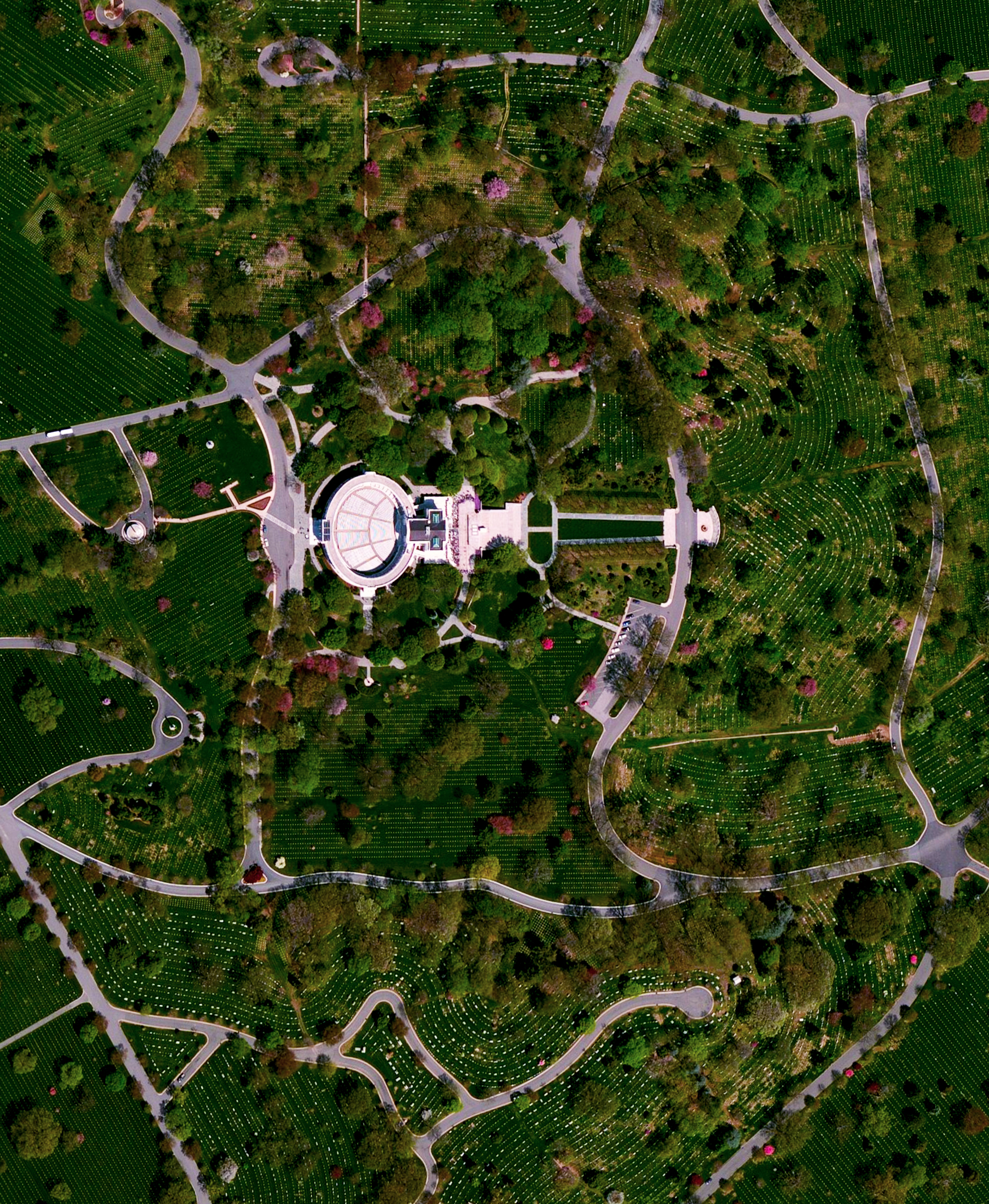 5/30/2016   Arlington National Cemetery   Arlington County, Virginia  38°52′48″N 77°04′12″W    In honor of Memorial Day in the United States, we've selected an Overview of Arlington National Cemetery outside of Washington, D.C. Since the American Civil War, the 624-acre cemetery has become the final resting place for veterans of the nation's conflicts. The structure seen here is the Arlington Memorial Amphitheater that also contains the Tomb of the Unknown Soldier.