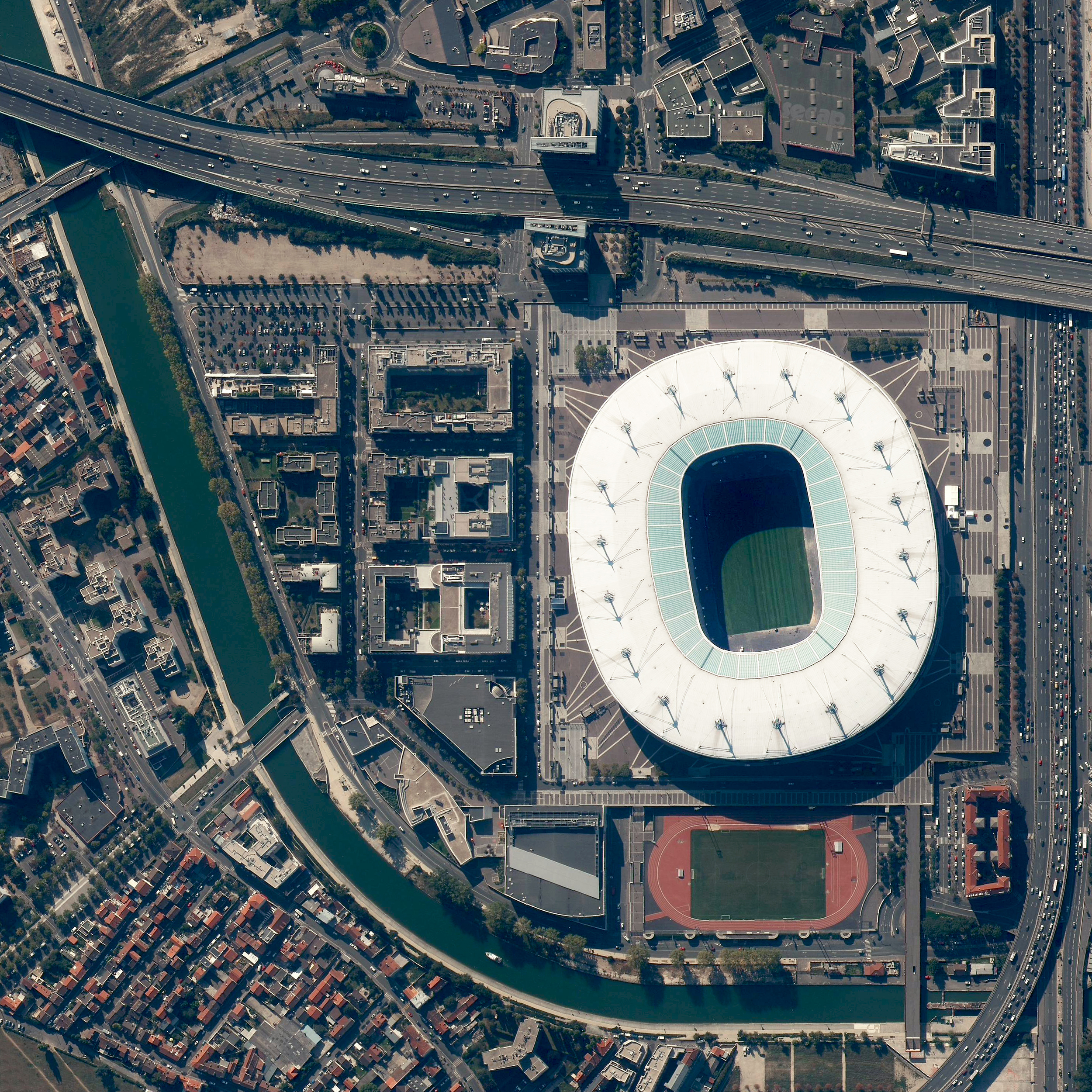 7/10/2016   Stade de France   Saint Denis, France  48°55′28″N 2°21′36″E     In a less than an hour, France will square off against Portugal in the finals of Euro 2016 — the championship tournament of European football (soccer) that takes place every four years. The match will be played in Stade de France, the nation's largest stadium that has a seating capacity of 81,338. Enjoy the game!