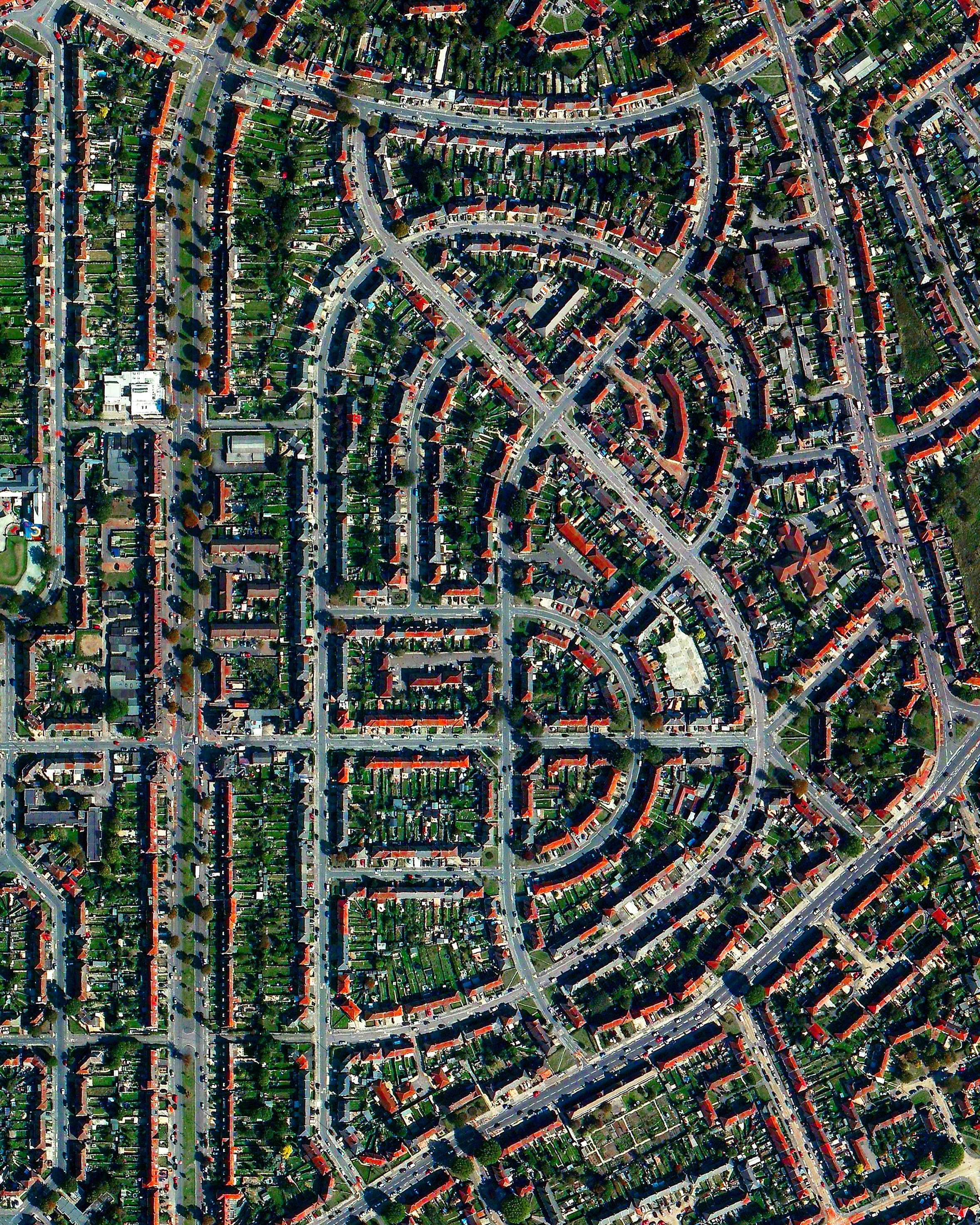 """To celebrate yesterday's launch of  """"Overview""""  in the UK, here is a mesmerizing view of residential development in the London suburb of Dagenham. Thank you to everyone who has ordered the book, left an Amazon review, or simply helped to spread the word about the project so far. As I write this in New York, it is very powerful to see this idea resonate not only across the pond, but across the globe. If you have friends in the UK that you think would enjoy the Overviews or the book, a tag or share would be enormously helpful to keep the momentum going. I hope everyone has a fantastic weekend, wherever you are in the world!"""