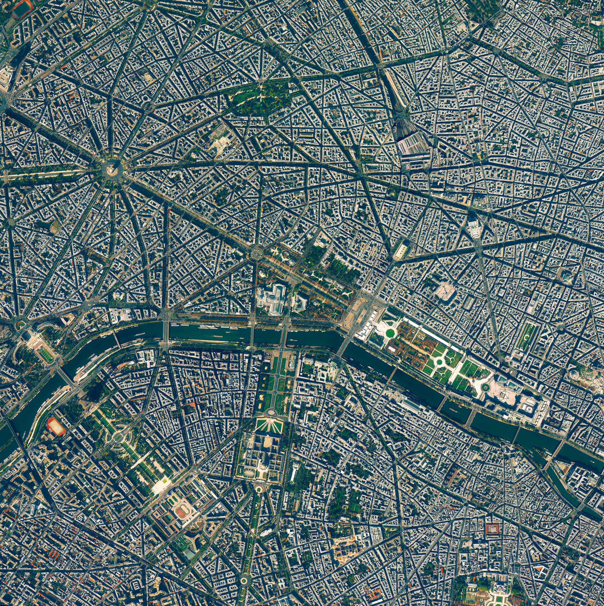 """3/25/2017  Paris  Paris, France  48.852716, 2.344834  Paris is the most populated city in France, and the ninth most populated city in Europe, with 2.2 million inhabitants. Known as """"The City of Light,"""" the city served as a central hub for luminaries during in the Age of Enlightenment, and also as a literal center of light as one of the first European cities to use gas street lamps in the 1860's.  Source imagery: DigitalGlobe"""