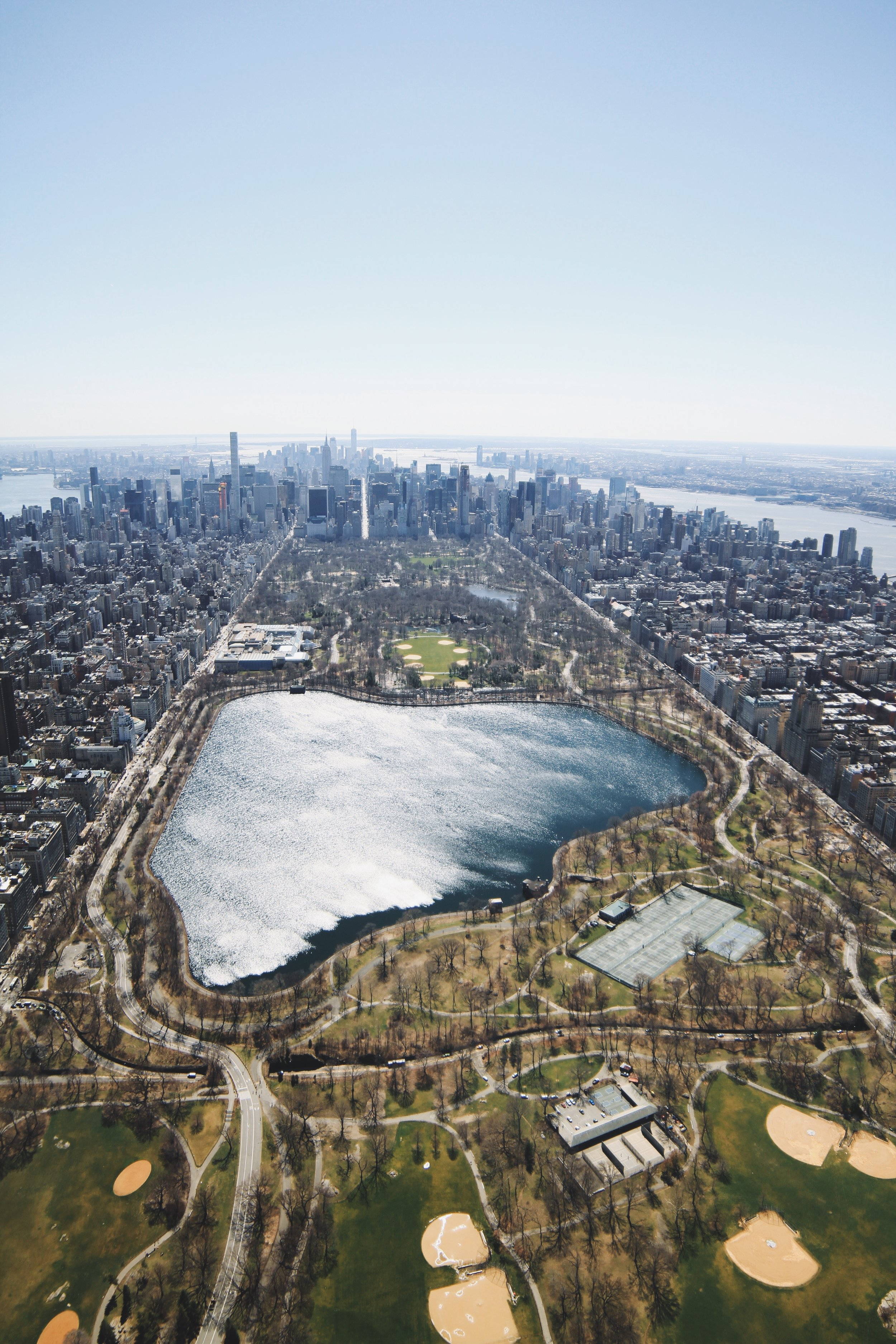 4/18/2017  Central Park  New York, New York  40.783184, -73.965510  Check out Central Park in New York City from our recent helicopter flight with @nyonair. The park was established with 778 acres in 1857, but was expanded to its current size of 843 acres in 1873. In 2013, the space had roughly 40 million visitors, making it the most visited urban park in the United States.