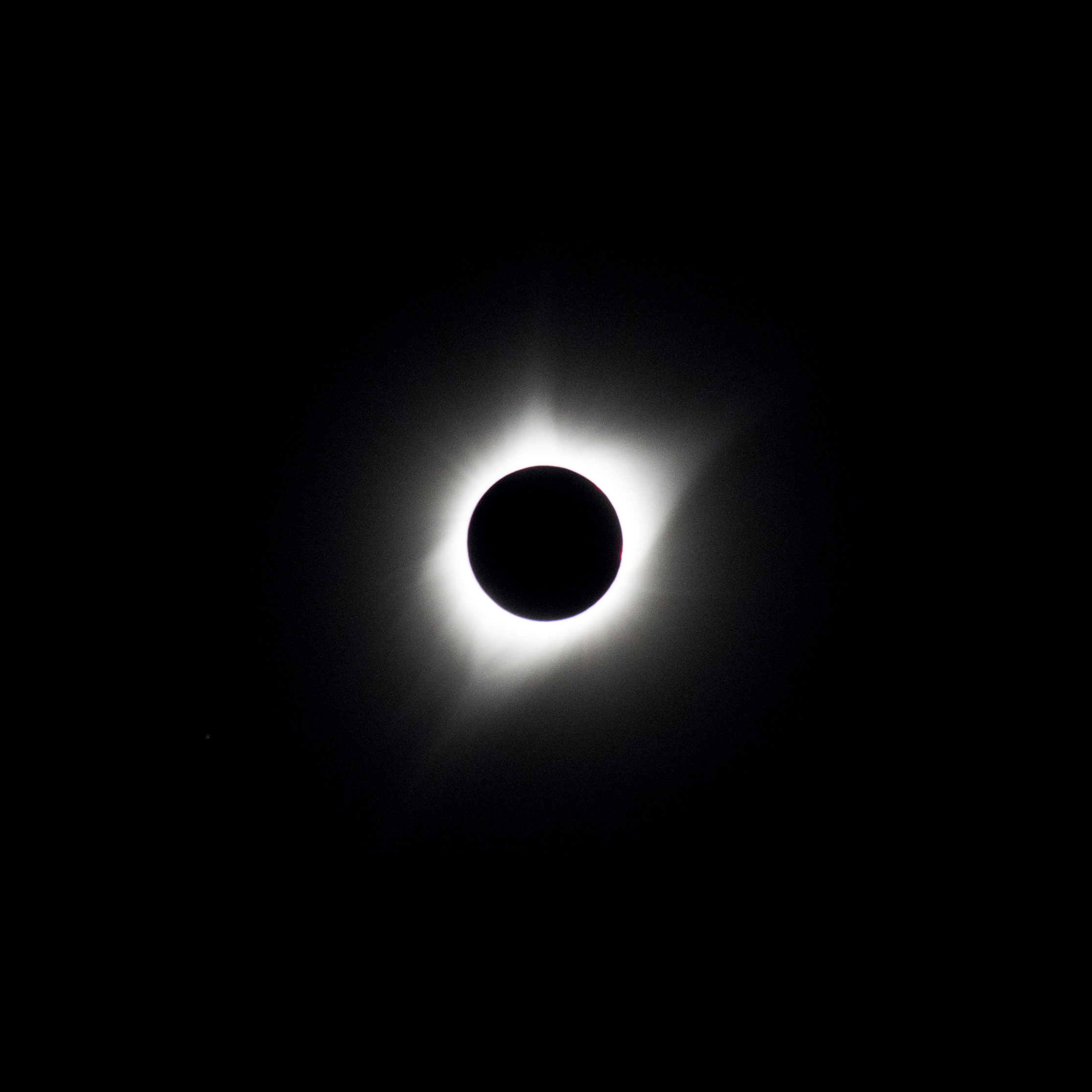 I captured this photograph of yesterday's solar eclipse from the zone of totality in Casper, Wyoming. We had an almost surreal two and a half minutes with this view as the moon passed between us and the sun. Being here during this event showed me, perhaps more so than ever before, that we are connected to and captivated by the cosmos.  A sincere thank you to the team at Camp Casper: Casper, Under Canvas, and Outdoor Voices - for the perfect viewing spot.