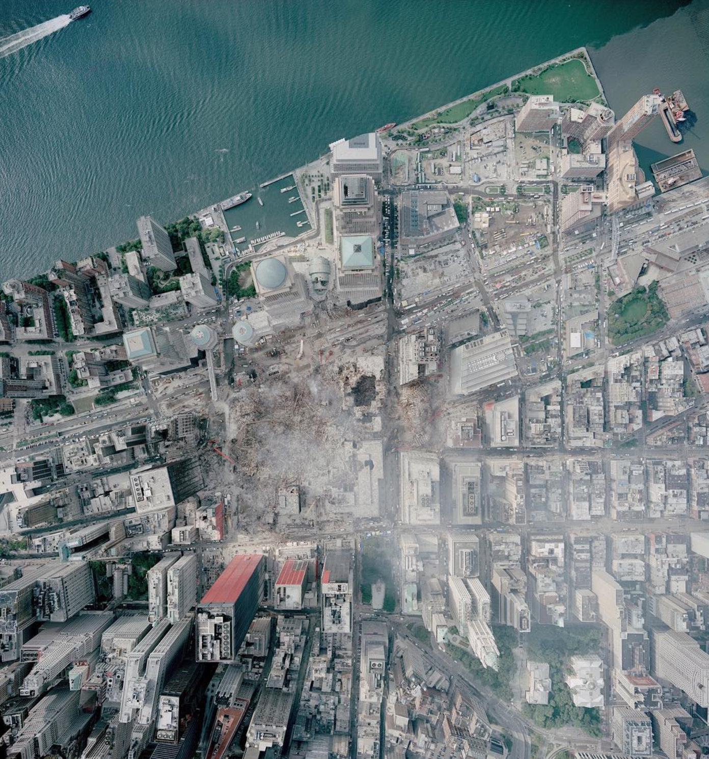 Today is the 16th anniversary of the September 11th attacks in the United States. This overview was captured above Ground Zero in downtown Manhattan on September 23, 2001. In the face of such darkness and destruction, I hope we can use this memory as an opportunity to recognize how essential it is to foster an appreciation and love for our fellow man.  📷: NOAA