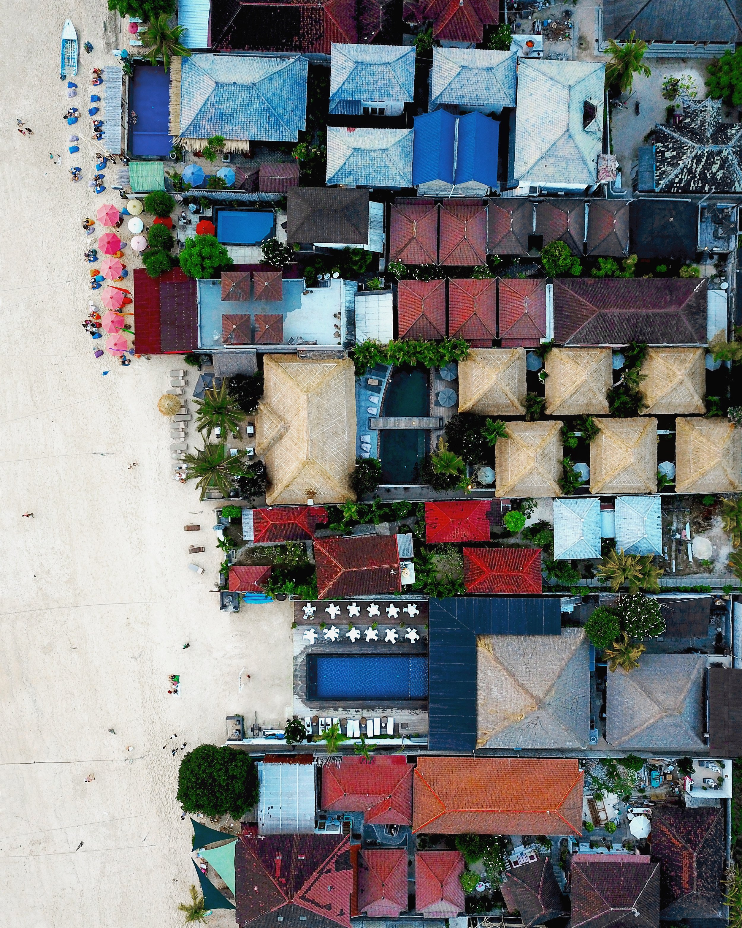 """Check out this drone photo captured by our founder Benjamin Grant above Nusa Lembongan, an island located southeast of Bali, Indonesia. The island is approximately 3 square miles (8 sq. km) in size and has a permanent population of around 5,000 people. It is surrounded by coral reefs, white sand beaches and low limestone cliffs.  8°40'58.8""""S, 115°26'45.7""""E"""