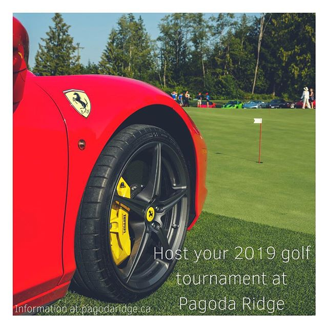 We offer a ultimate tournament experience. Weather it's a corporate outing or a casual golf group...Pagoda Ridge can make your next tournament a great one. • • • • #pagodaridgegolfcourse #golftournament #golfthewall #ferrari #redferrari #golflangley