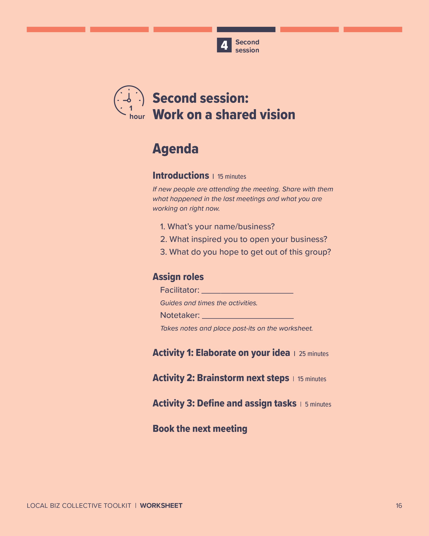 Agenda: Second session