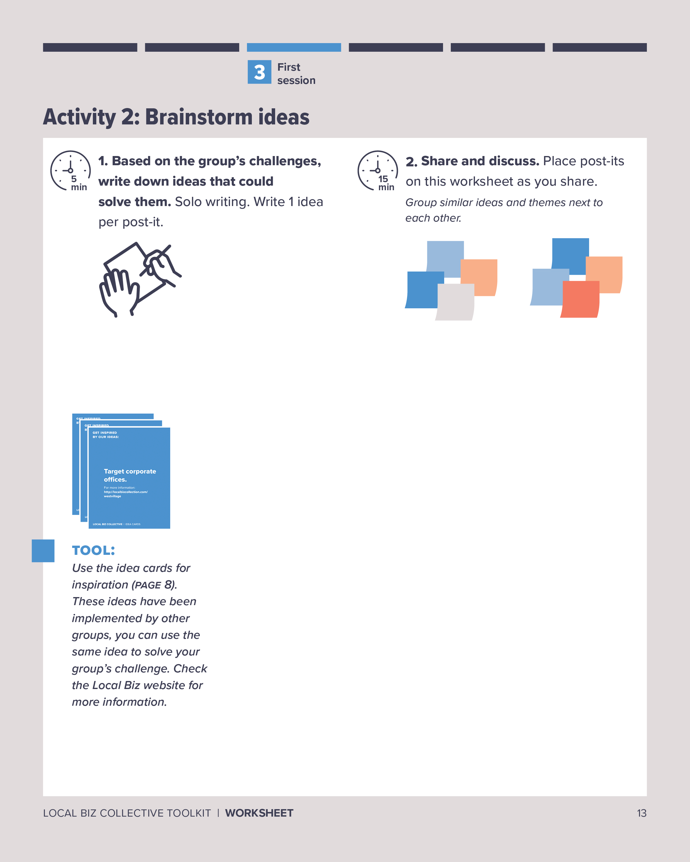 Worksheet: Brainstorm idas