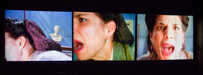 """Photo: Barbara Zimonick  """"Laara Sadiq plays cleverly with film noir as Inez, the old-fashioned predatory lesbian""""   -San Francisco Chronicle   """"Superb:Laara Sadiq takes the role of the stereotypical man hating lesbian and makes is witty and coolly sophisticated""""   -Colin Thomas Georgia Straight   """"Laara Sadiq cuts to the bone as the lesbian secretary Inez, her raspy snarl a mordant counterpoint to:bottle blond Estelle""""   -Eleni Deacon Eye Weekly   """"The women are fiercely specific, Laara Sadiqs bruised incisiveness as Inez balancing the elegant meltdown of Estelle""""   -Robert Cushman National Post   """"Flawless""""   -Rob Clark Calgary Herald"""