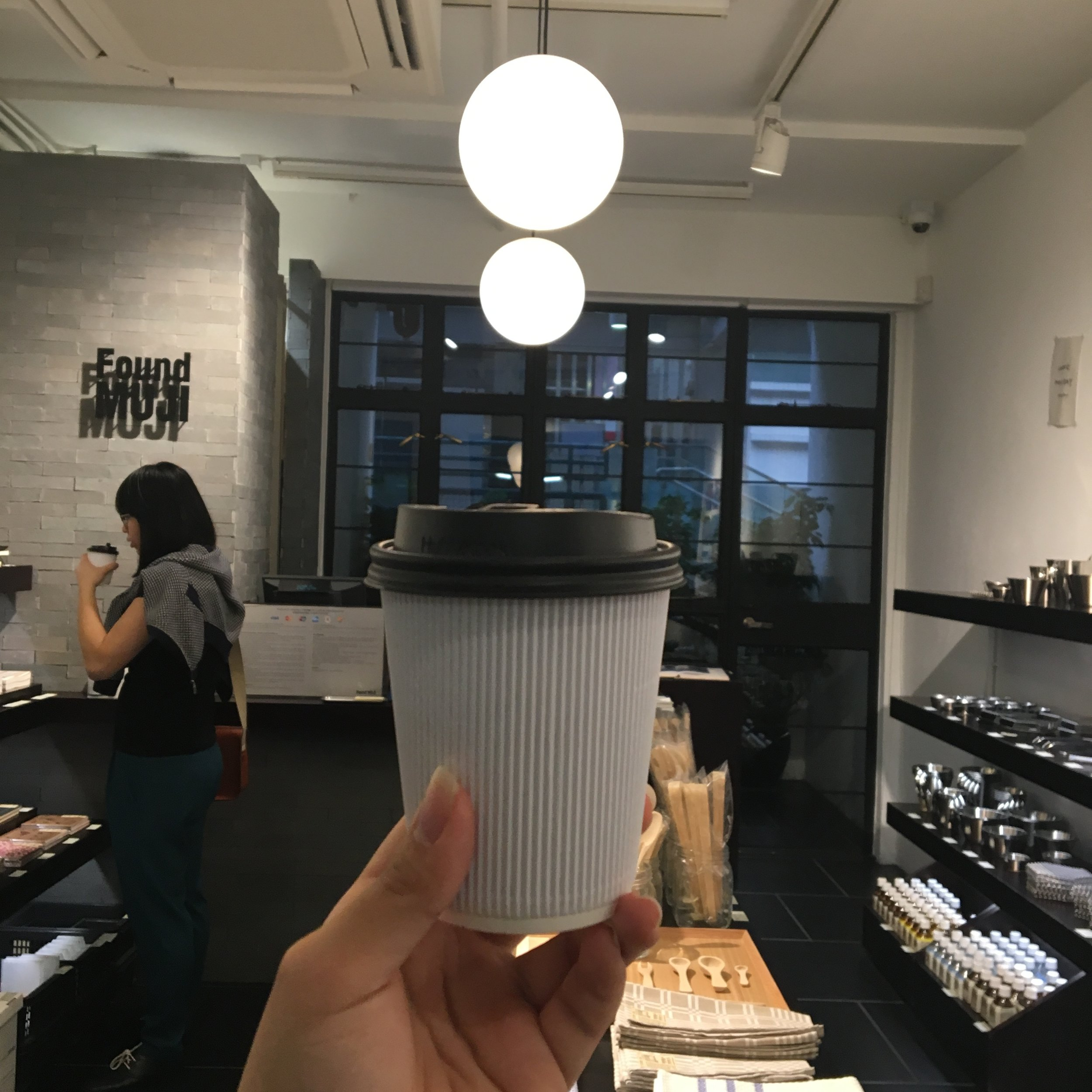 Who doesn't love MUJI! Found Muji @PMQ yay (p.s. I got coffee from the cafe next door, not here hehe)