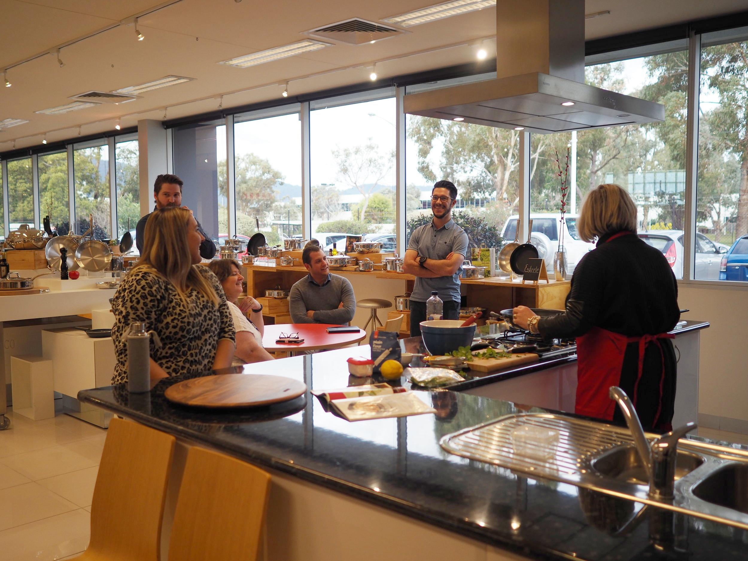 MEYER AUSTRALIA Showroom with kitchen area