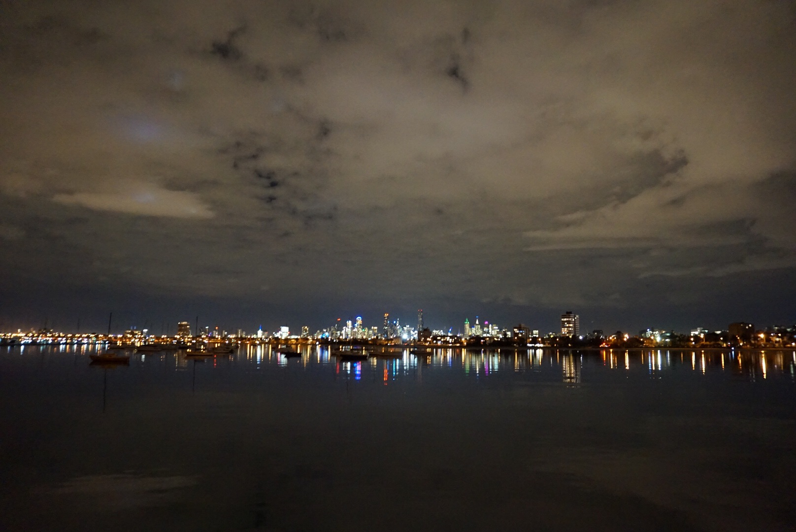 Final night in Melbourne, I decided to go to see penguins at St.Kilda beach and got this amazing view.