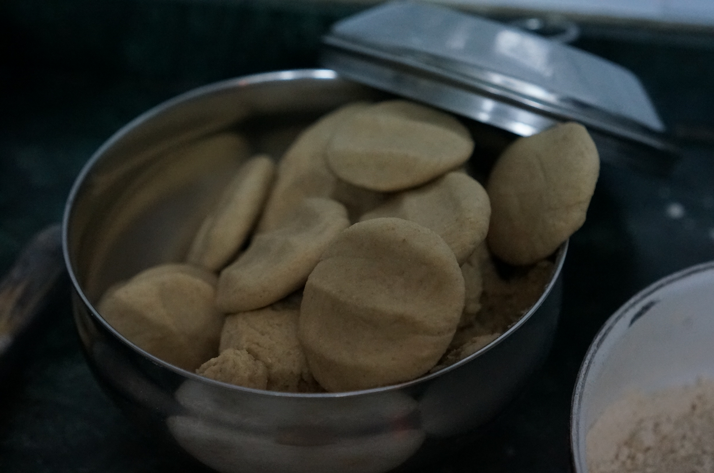 The Puri / Poori dough were made from wheat flour. These were prepare for deep-fried.