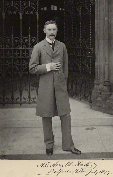 Hugh Oakeley Arnold-Forster (1855 – 1909), known as H. O. Arnold-Forster, was a British politician and writer. He notably served as Secretary of State for War from 1903 to 1905.
