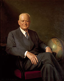 "Herbert Clark Hoover (1874 – 1964) was the 31st President of the United States (1929–1933). Hoover, born to a Quaker family, was a professional mining engineer. He achieved American and international prominence in humanitarian relief efforts in war-time Belgium and served as head of the U.S. Food Administration during World War I. As the United States Secretary of Commerce in the 1920s under Presidents Warren G. Harding and Calvin Coolidge, he promoted partnerships between government and business under the rubric ""economic modernization""."