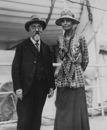 Sidney and Beatrice Webb, (respectively, 1859 — 1947; 1858 — 1943) were English Socialist economists (husband and wife), early members of the Fabian Society, and co-founders of the London School of Economics and Political Science. Sidney Webb also helped reorganize the University of London into a federation of teaching institutions and served in the government as a Labour Party member. Pioneers in social and economic reforms as well as distinguished historians, the Webbs deeply affected social thought and institutions in England.