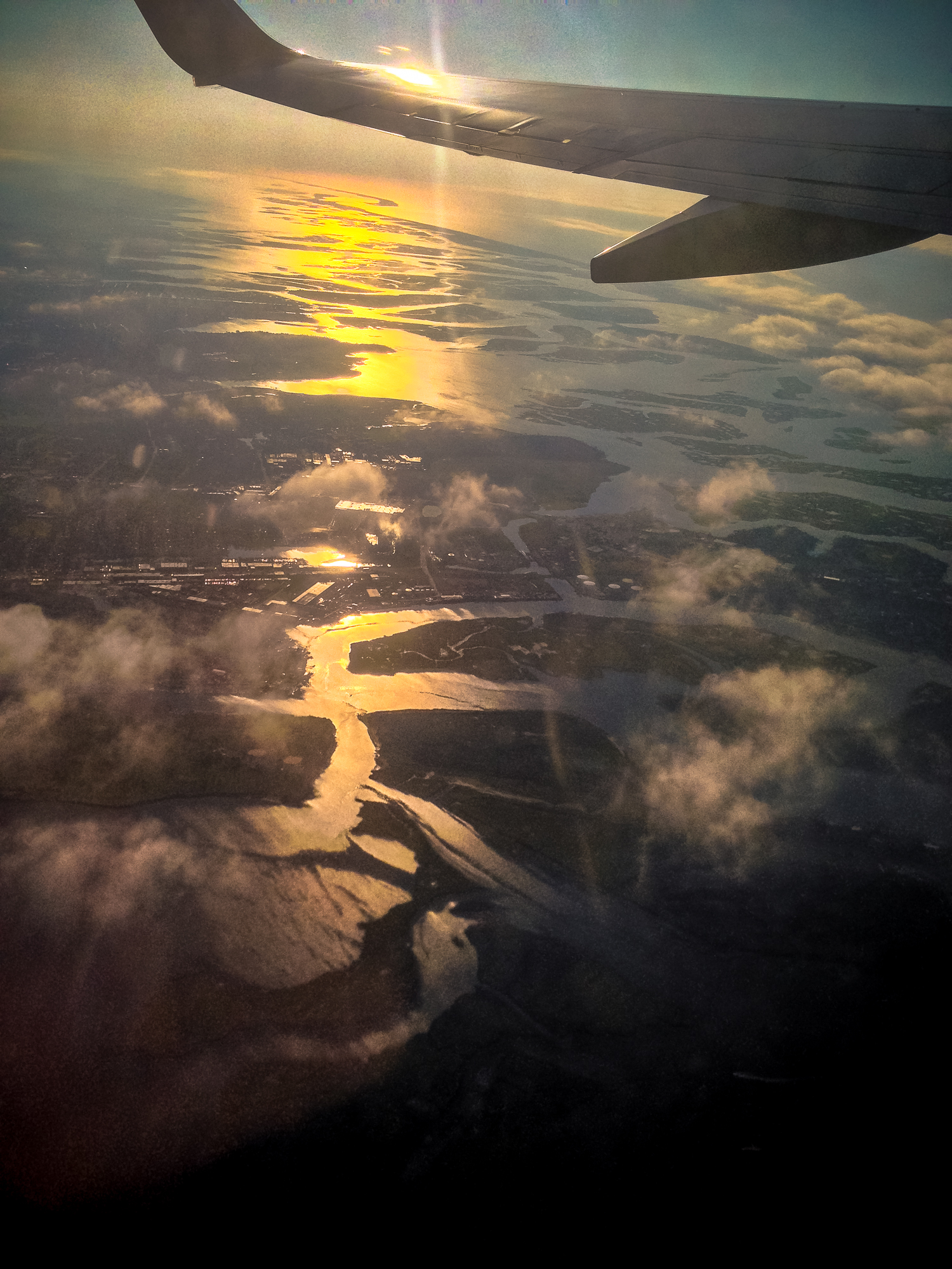 Long Island after takeoff from JFK