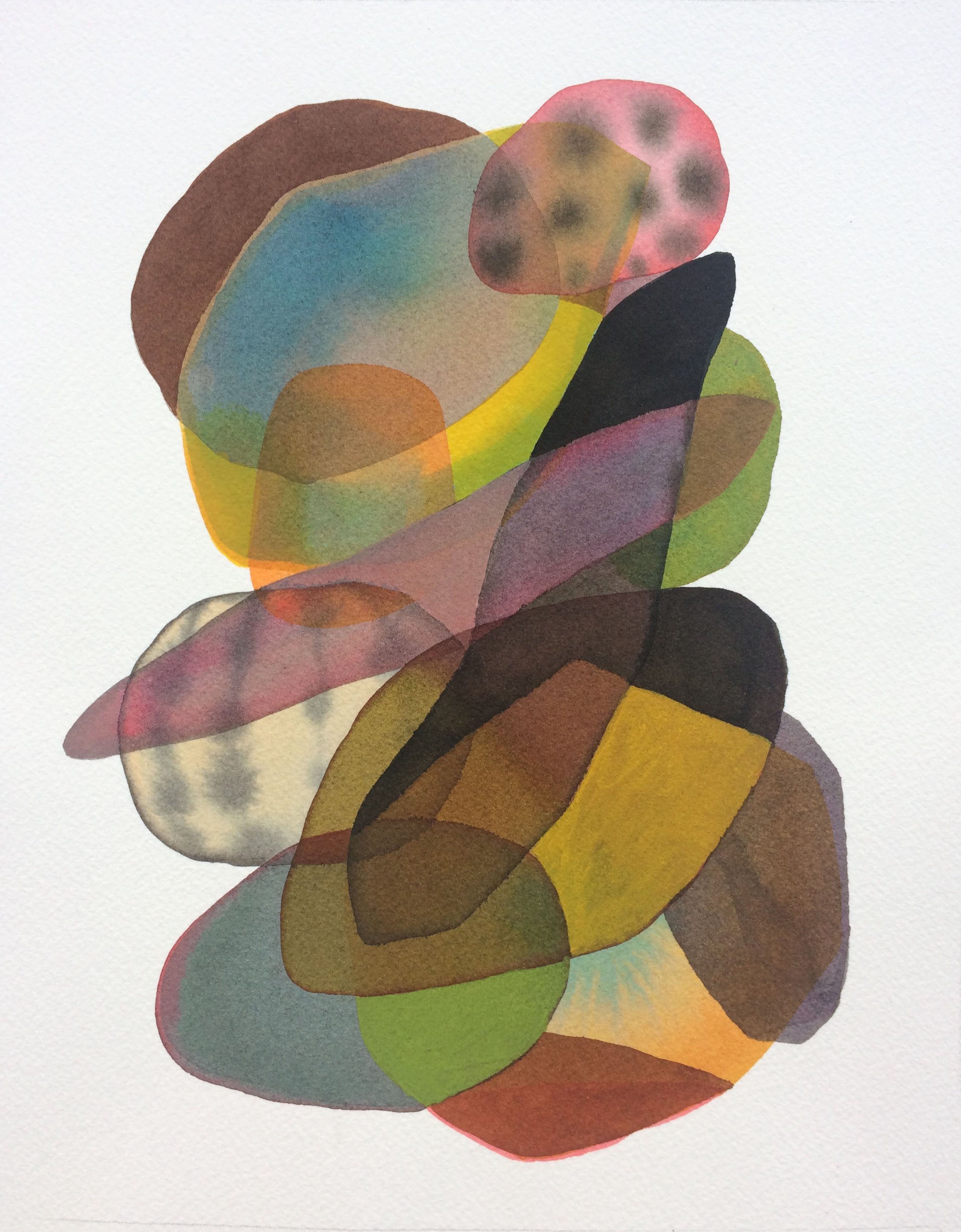 Cairn #1 , 2019, watercolor, ink-wash, and gouache on paper, 10 x 8 inches