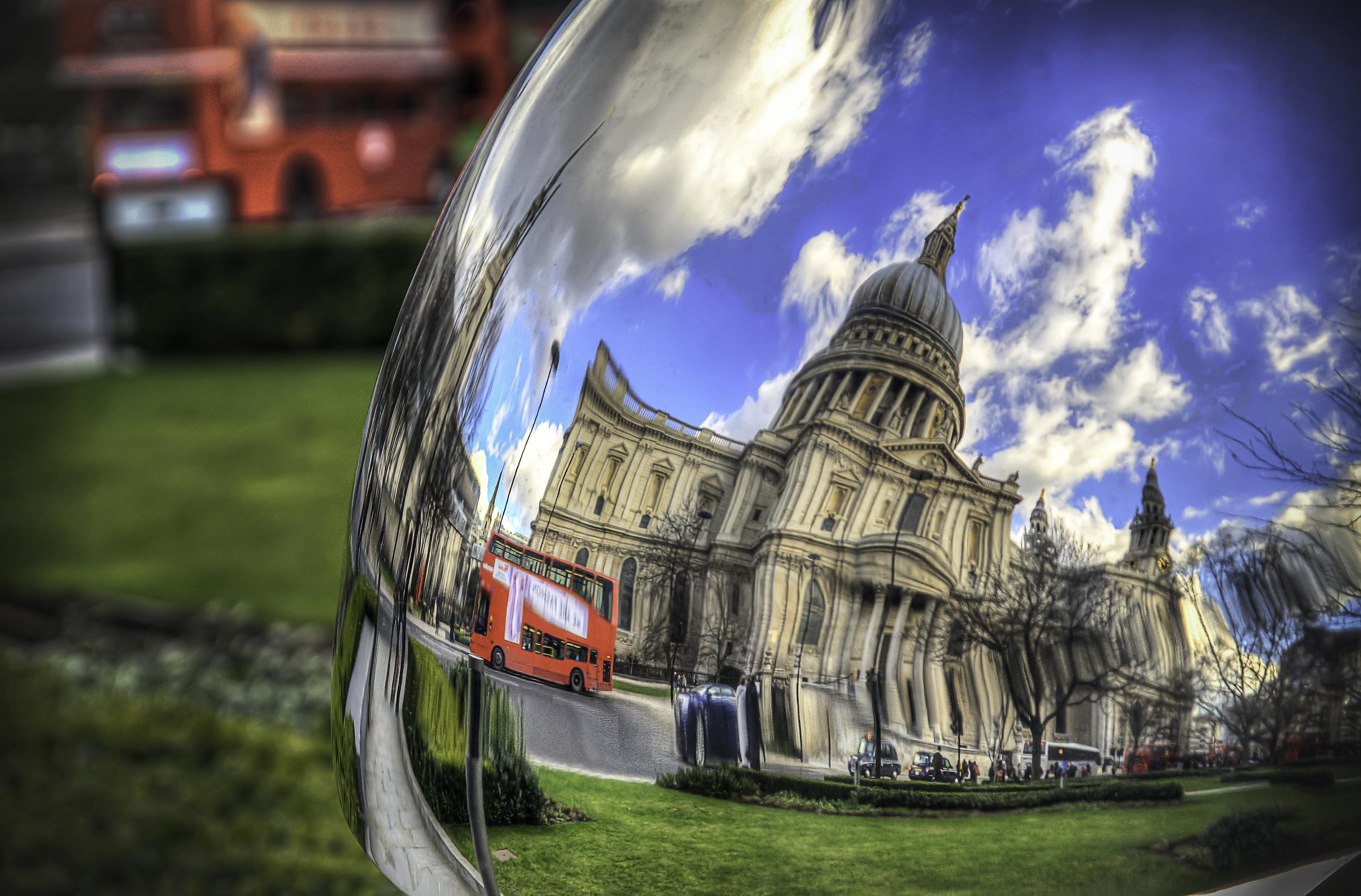 St Pauls Sculpture Reflection