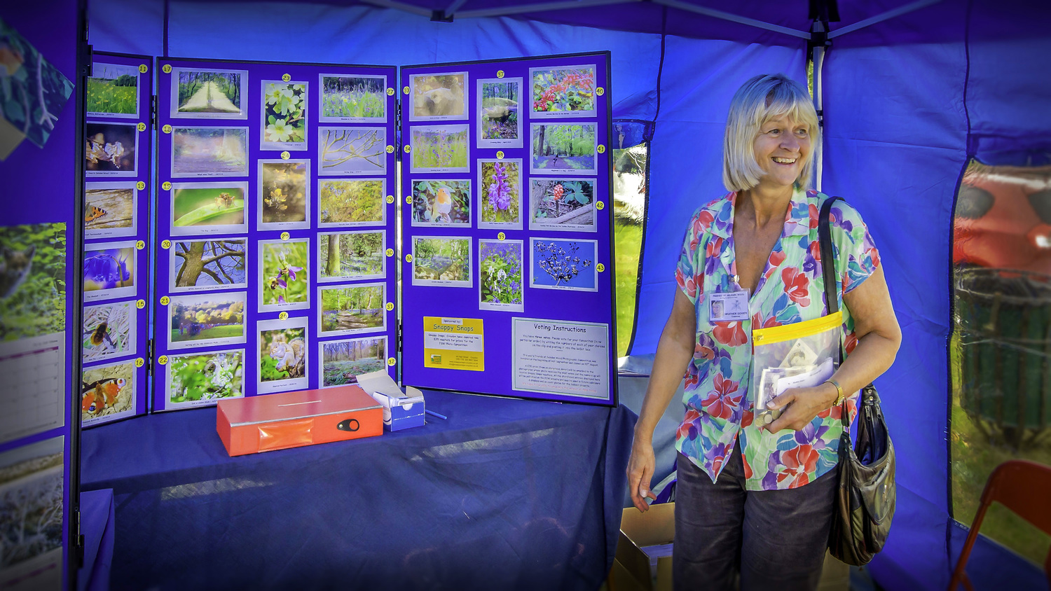 Heather collecting the votes at the open day