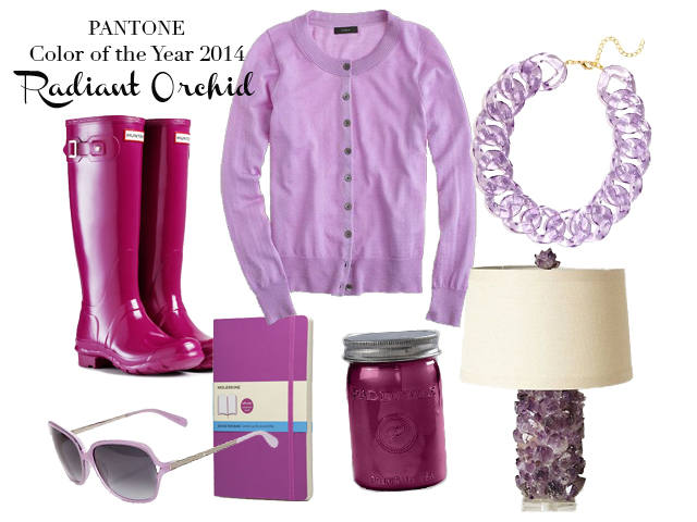 Design:  Laura Messersmith ; Product Images:  Boots:  Hunter , Cardigan:  J. Crew , Necklace:  Bauble Bar , Sunglasses:  Kate Spade , Notebook:  Moleskine , Candle:  Paddywax , Lamp:  Anthropologie