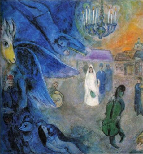 Marc Chagall,  The Wedding Candles , 1945;   Source