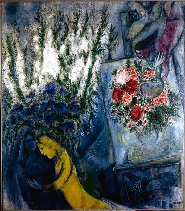 Marc Chagall,   Anniversary Flowers  , 1947;   Source