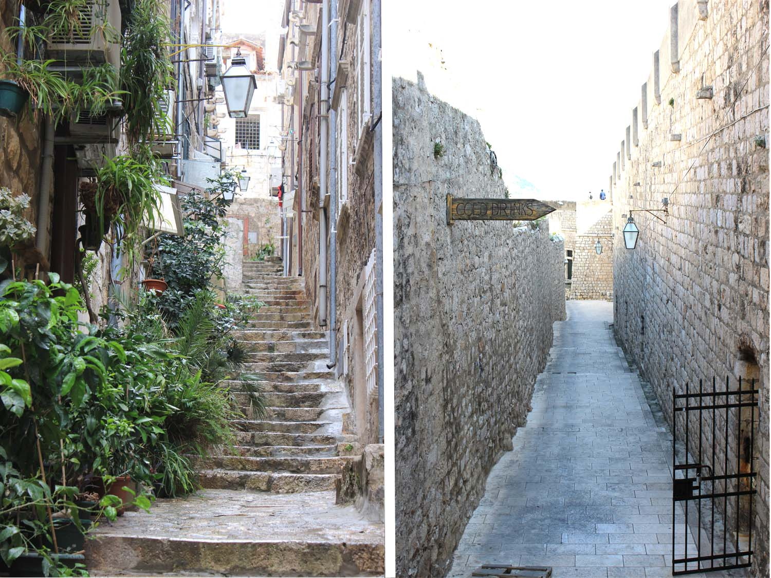 """The Streets of Old Town Dubrovnik & """"Cold Drinks"""" I Images: Laura Messersmith"""