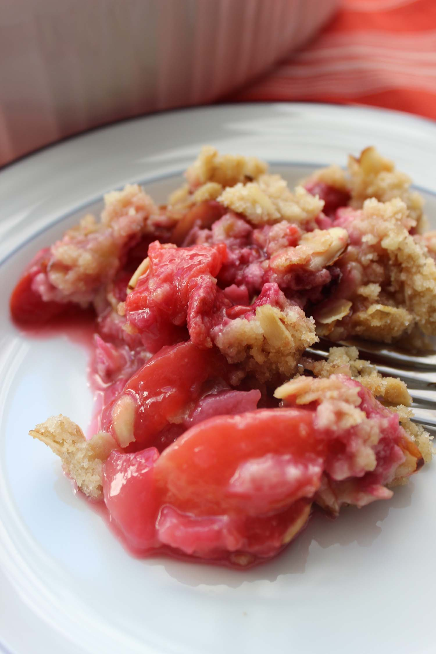 Plum Raspberry Crumble  | Image:  Laura Messersmith