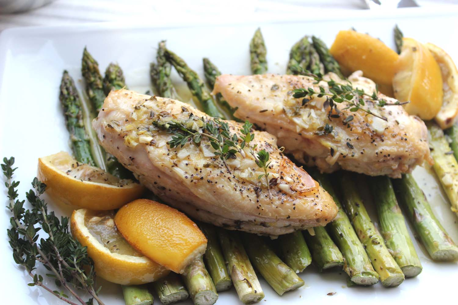 Lemon Chicken with Roasted Asparagus    Image:  Laura Messersmith