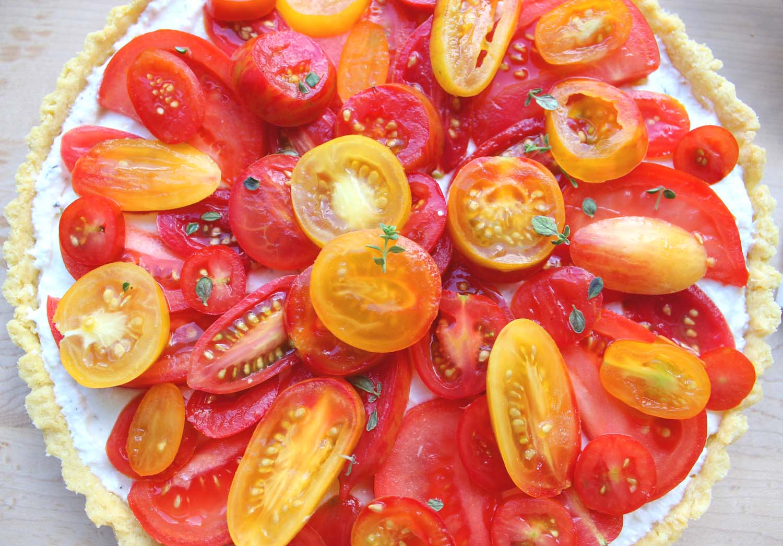 Farmers Market Tomato and Ricotta Tart   Image: Laura Messersmith