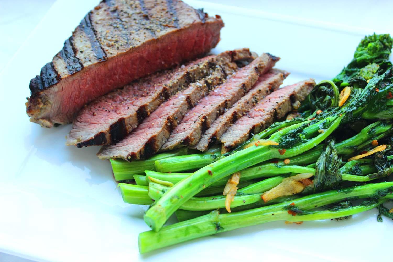 Mustard Marinated Flank Steak  | Image:  Laura Messersmith