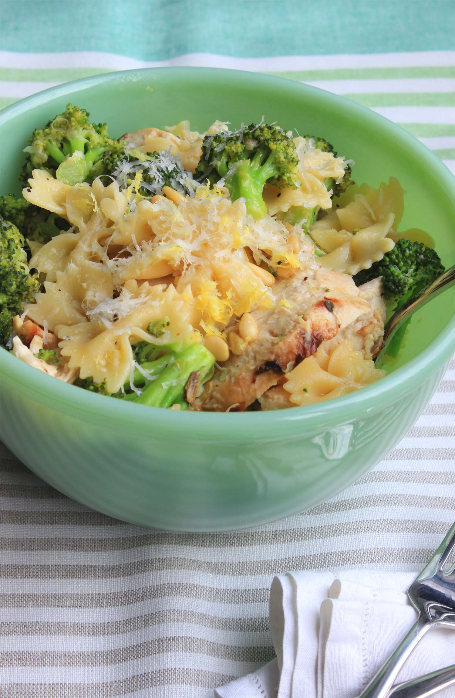 Lemon Chicken with Broccoli and Bowties  | Image:  Laura Messersmith