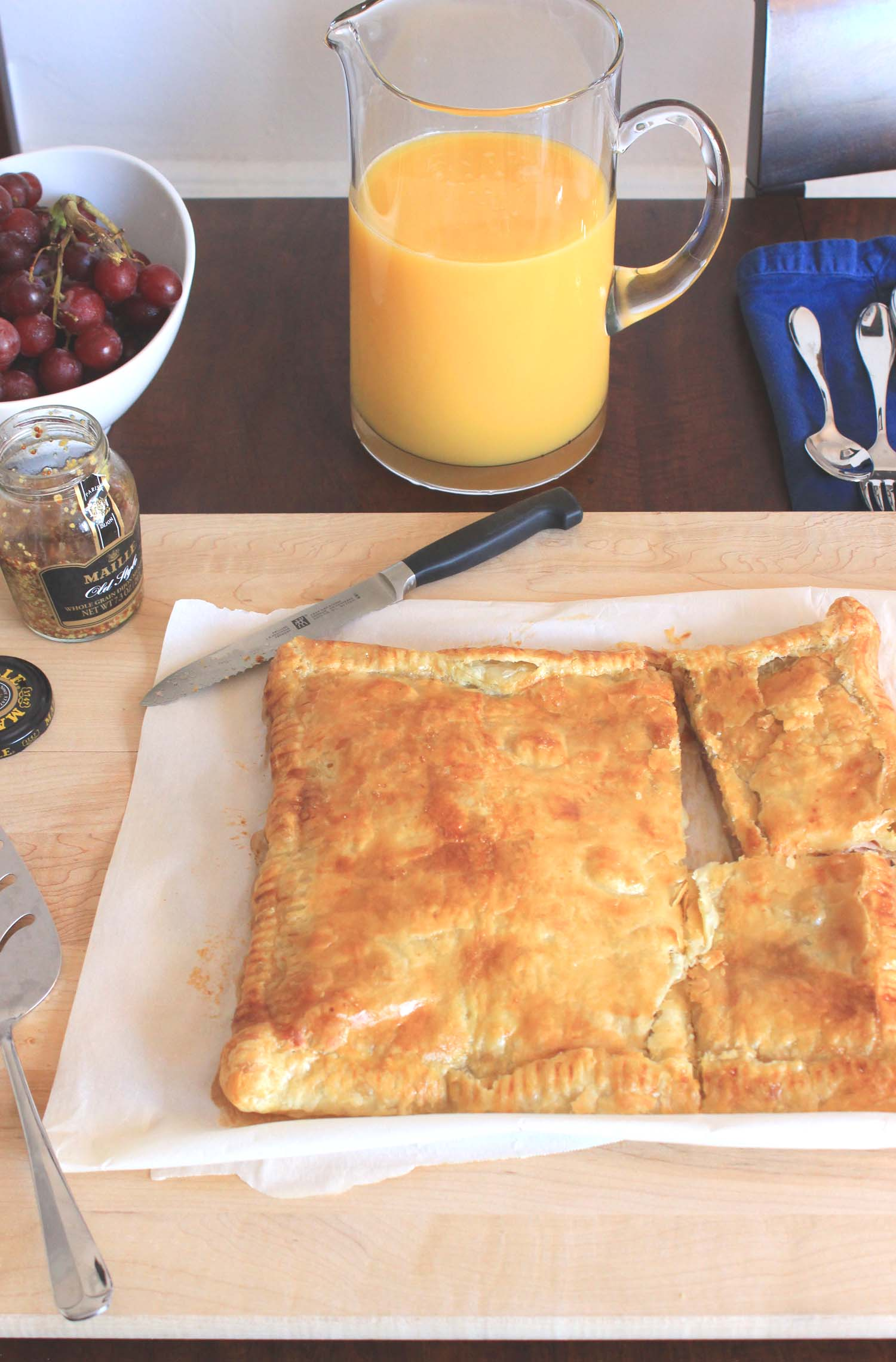 Ham and Cheese in Puff Pastry  | Image:  Laura Messersmith